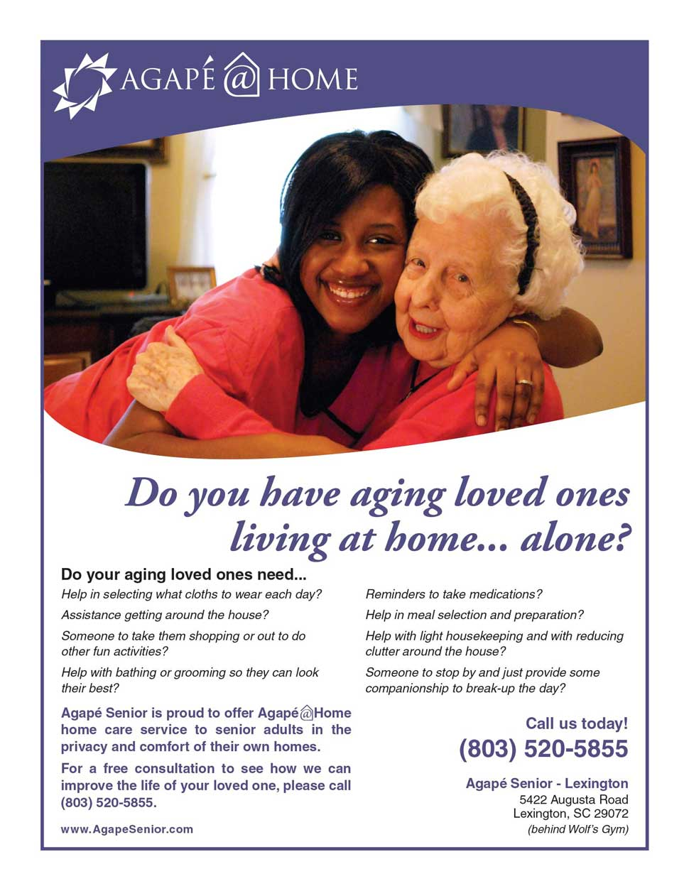 Agape at Home Flyer
